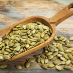 image of pumpkin seeds which contain large amounts of L-leucine