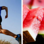 runner using watermelon which contains citrulline, a good pre workout supplement