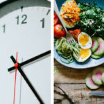 clock and food highlighting the importance of good peri-workout nutrition