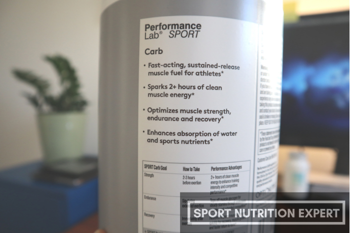 list of benefits of performance lab carb on the tub